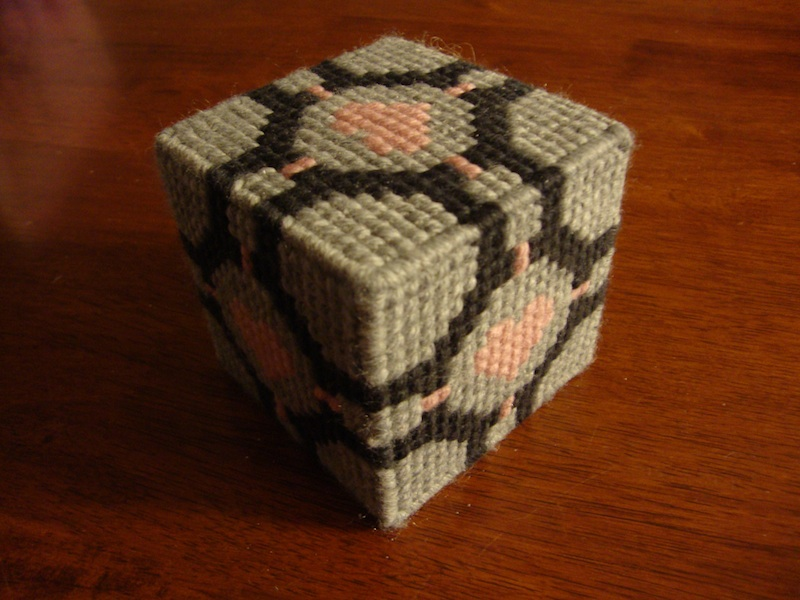 Home-made Companion Cube