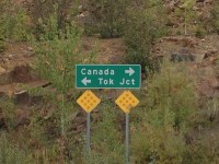 "This made me laugh. ""All of Canada - that way! Just Tok Junction - that way!"""