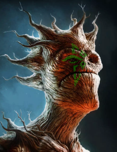 Groot, with an ENL logo, by G+ user Troy Snell