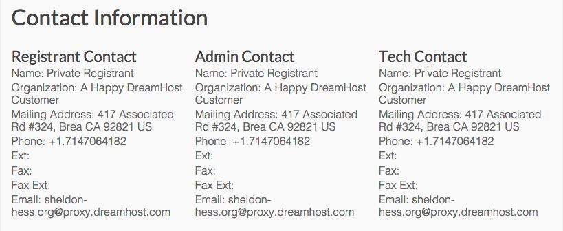 Domain Name Privacy Coral Sheldon Hess