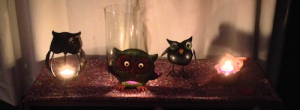 my collection of owl candles